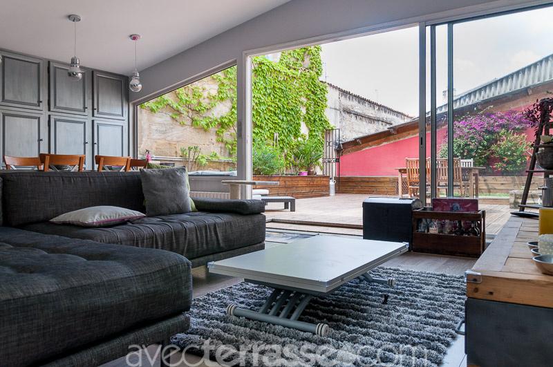 Avec terrasse l 39 immobilier bordeaux centre ville - Terrasse et jardin immobilier vincennes bordeaux ...