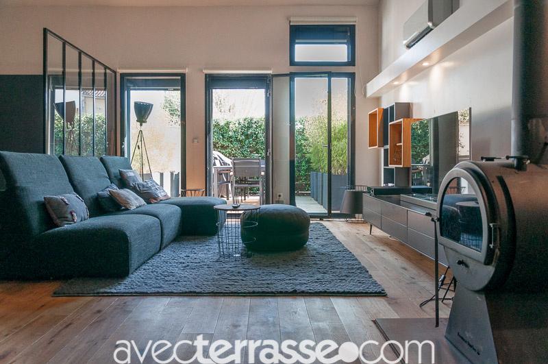 vente vente appartement loft 4 pi ces avec terrasse m rignac la glaci re labatut avec terrasse. Black Bedroom Furniture Sets. Home Design Ideas